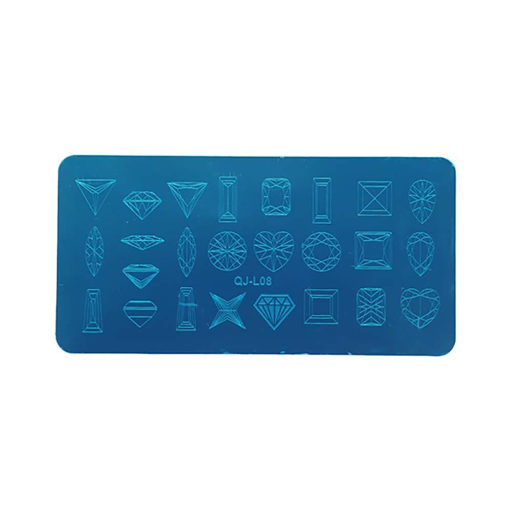 Chakil Placa de Estampa la Impresora de Uñas Nail Art ...