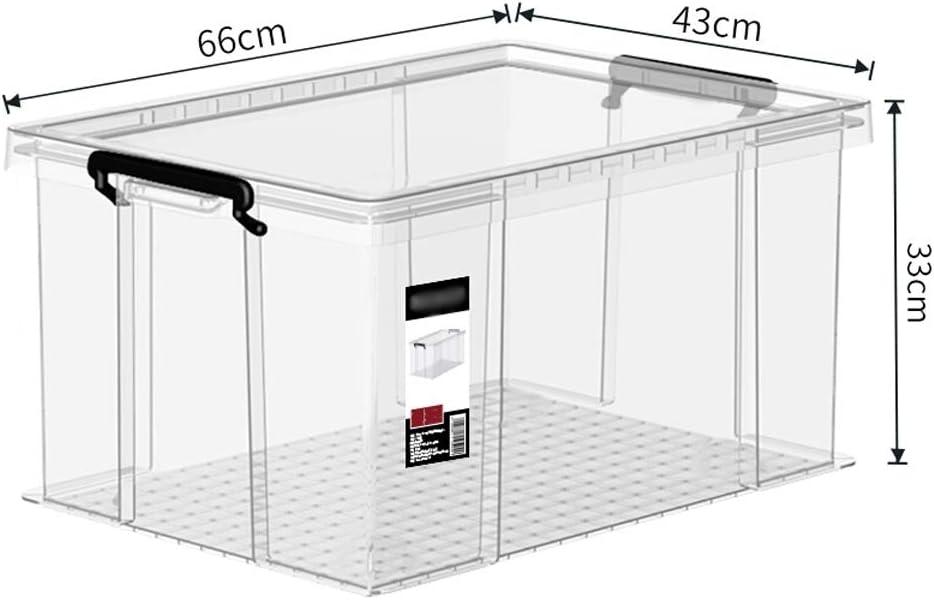 Chun Li bin de almacenamiento, caja de almacenamiento de ropa misceláneas caja transparente de plástico ángulo recto caja de acabado anti-presión, 4 tamaños disponibles Compartimientos de almacenaje: Amazon.es: Hogar