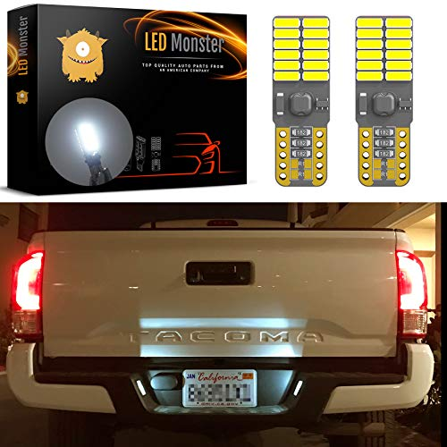 - LED Monster 2x 168 194 T10 5SMD LED Bulbs Car License Plate Lights Lamp White 12V (24 SMD)