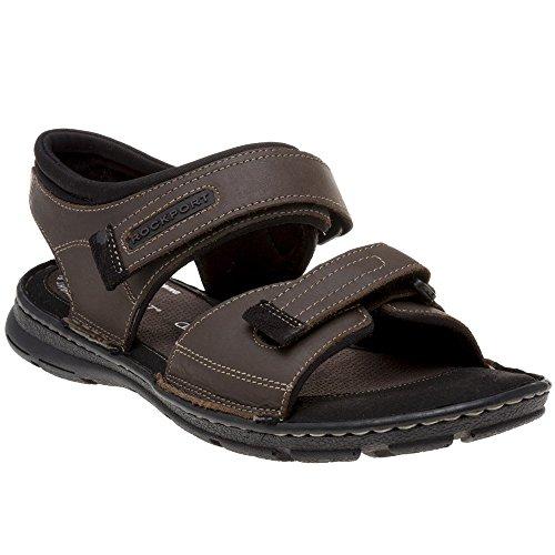(Rockport Darwin Qtr Strap Mens Sandals Brown )