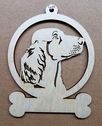 Irish Setter Dog Wooden Christmas Ornament Customizable or ()