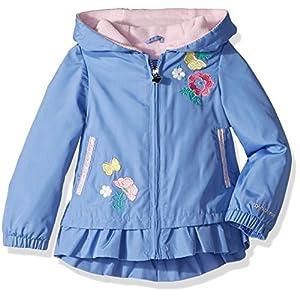 London Fog Little Girls' Midweight Fleece Lined Jacket, Lavender Blue, 5/6