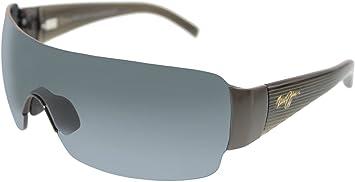 cb8e100d087 Maui Jim Men's Polarized Honolulu 520-02 Black Shield Sunglasses ...