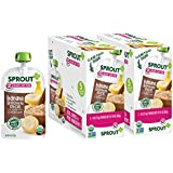 Sprout Organic Baby Food Pouches Stage 2 Sprout Baby Food, Banana Brown Rice with Cinnamon, 4 Ounce (Pack of 10); USDA Organic, Non-GMO, Made with Whole Foods, No Preservatives, Nothing Artificial