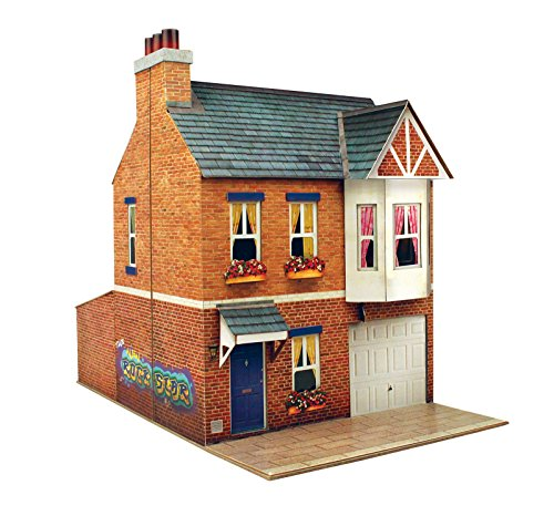 O Gauge 7mm 1:48 Scale Model Railroad Building Row House Kit CityBuilder from The CityBuilder