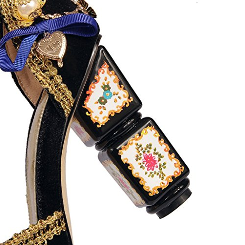 Platform Toe Sandalias De Fashion Altos Shoes Tacones Court Pump Evening Las Peep Stiletto Crystal Flores Mujeres Party Retro wSYpAw