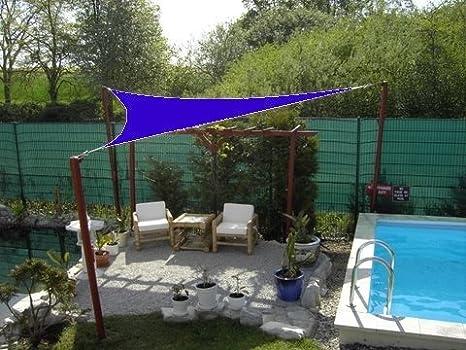 Coolaroo – Toldo triangular 5 x 5 x 5 m color azul: Amazon.es: Jardín