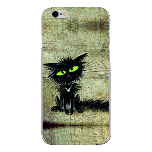 """Disagu Design Case Coque pour Apple iPhone 6s Housse etui coque pochette """"Schwarze Katze"""""""