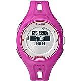 Timex Unisex TW5K87400 Ironman Run x20 GPS Full-Size Magenta Resin Strap Watch
