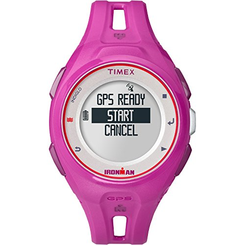 Timex Unisex TW5K87400 Ironman Run x20 GPS Full-Size Magenta Resin Strap (Chrono Ladies Watch)