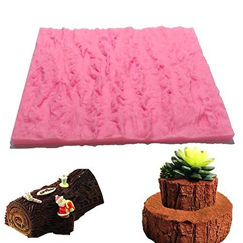 Fondant Impression Mat Set,Silicone Tree Bark Texture Shape Cake Decorating Supplies for Cupcake Wedding Cake Decoration