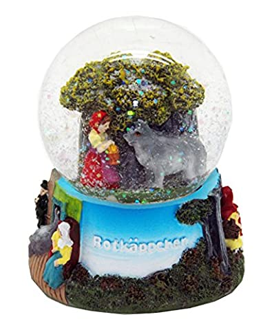 30035 Snow Globe German Fairytales Little Red Riding Hood and Wolf 3.3 Inch.