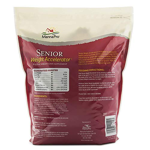 Manna Pro Senior Weight Accelerator for Horses, 8 Pounds (Pack of 2)