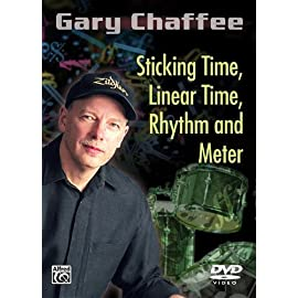 Picture of the cover of the DVD Sticking Time, Linear Time, Rhythm and Meter by master drum teacher Gary Chaffee