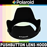 """Polaroid Studio Series Lens Hood With Exclusive Pushbutton Mounting System - no more 'screwing around"""" With Old Fashioned Threaded Hoods For The Pentax K-3, K-50, K-500, K-01, K-30, K-X, K-7, K-5, K-5 II, K-R, 645D, K20D, K200D, K2000, K10D, K2000, K1000, K100D Super, K110D, *ist D, *ist DL, *ist DS, *ist DS2 Digital SLR Cameras Which Has Any Of These (18-55mm, 50-200mm) Pentax Lenses"""