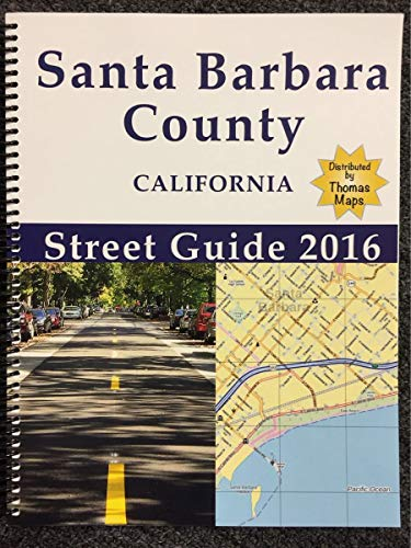 Santa Barbara-San Luis Obispo CA Street Atlas with Zip Codes