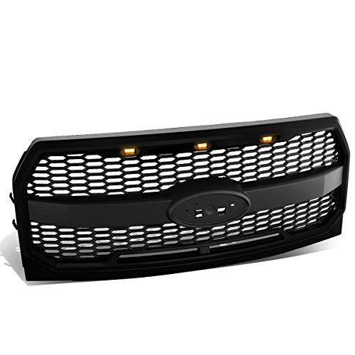 DNA Motoring GRL-F15015MESH-BK Matte Black Mesh Front Grille w/Shell+LED [For 15-17 Ford F150] ()