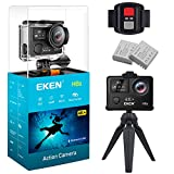 EKEN H6s 4K+ 14MP Wifi Action Camera Panasonic Sensor Ultra HD with EIS 100ft Underwater Waterproof Camera 4K Remote Sports Camcorder with 2 Batteries, Accessories Kit, and Tripod