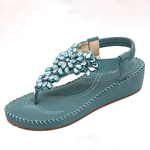 Strass Sandalen Frauen öffnen Zehe Sandalen Schuhe Wild C