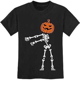 Amazon.com: Skeleton Floss Dance Jack O Lantern Pumpkin Halloween Youth Kids T-Shirt: Clothing