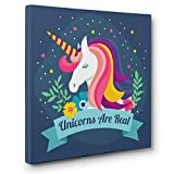 Unicorns Are Real CANVAS Wall Art Home Décor