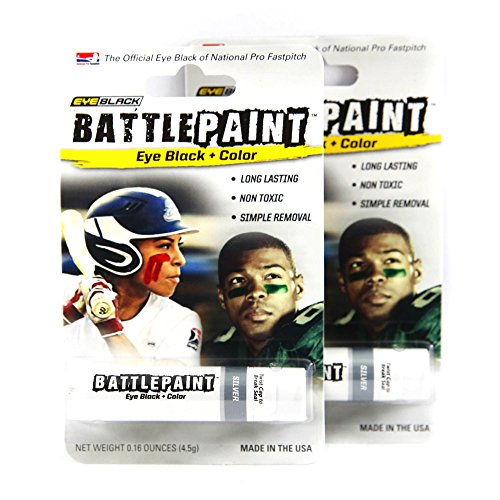 BattlePaint (2 Tubes) Silver Eye Black Grease, Rich Vibrant Colors, Worn by the -