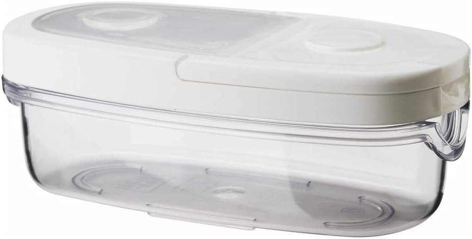 IKEA 365+ Dry food jar with lid transparent white, 0.08 gal