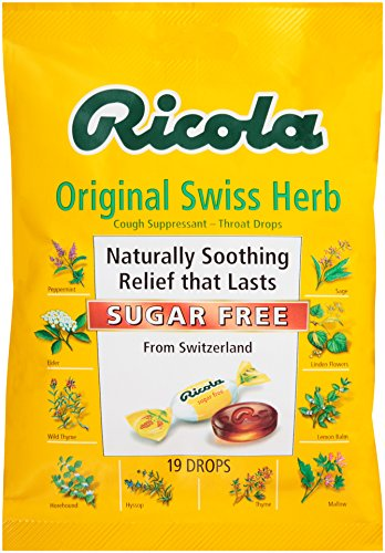 (Ricola Sugar Free Mountain Herb Cough Suppressant with Stevia Extract, 19 Drops)