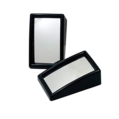 Hypersonic Blind Spot Mirror Convex Wide Angle Rear View Car Outside Universal Fit Stick Mirrors: Automotive
