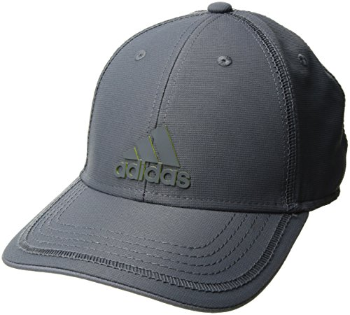 adidas Mens Contract III Structured Adjustable Cap, Onix/Onix/Shock Slime, One Size