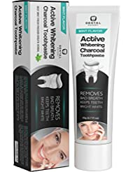 Activated Charcoal Teeth Whitening Toothpaste Orange Flavor- DESTROYS BAD BREATH - Best Natural Black Tooth Paste Kit - Herbal Decay Treatment - REMOVES COFFEE STAINS - MINT FLAVOR - 20g (0.7 Oz)