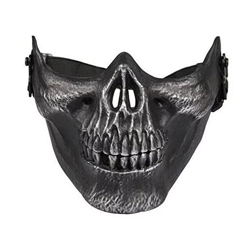 SHARPTECK Skull Skeleton Airsoft Paintball Half Face Protect Mask
