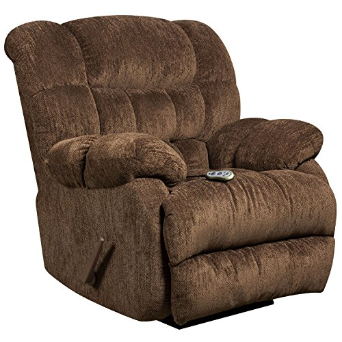 Flash Furniture Massaging Columbia Mushroom Microfiber Rocker Recliner with Heat Control - Mushroom Rocker Recliner