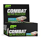 Musclepharm Combat Crunch Bars, 12-Count, Net Weight 26.67 oz, Birthday Cake