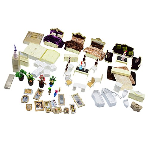 Dovewill Plastic 1:25 Scale Mini Simulation Family House Model Kits DIY Landscape Layout Christmas Gift Kids Toys White by Dovewill