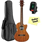 Cordoba 20TM-CE Tenor Ukulele guitarVault Package with Cordoba Deluxe Gig Bag And Tuner