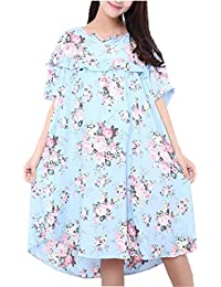 Amoy madrola Women's Loose Fit Soft Floral Nightgown Casual Nights 3XL SY221