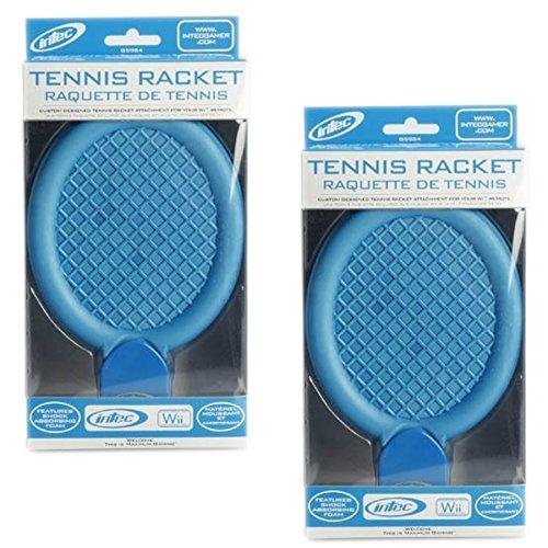 Intec - Nintendo WII Tennis Racket Blue with shock absorbing foam - Pack of 2