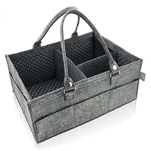 Felt Baby Diaper Caddy and Organizer - Large Craft Caddy, Ca