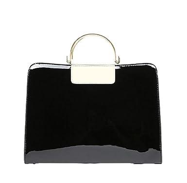 Helle Lederne Handtasche Klassische Temperament Schulter Diagonale Paketnieten Kleine Quadratische Tasche,Red-OneSize GKKXUE