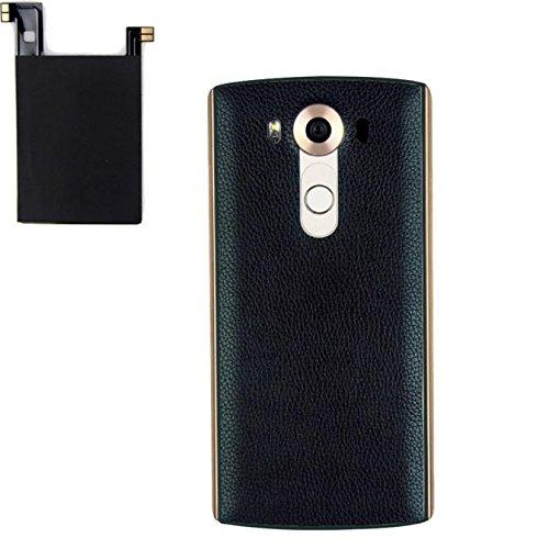 LG V10 Wireless Charging Case, Lookatool Genuine Leather Qi Wireless  Charger Charging Case Battery Back+Receiver Sticker Support NFC for LG V10  (Blue)