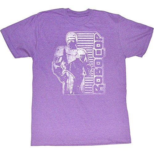 shirt Millésime American Classics Scifi Homme Film Néon 1987 Pour D'action Robocop Tee wzIHzr