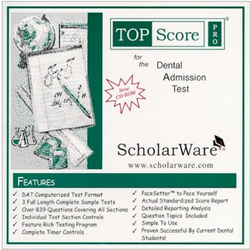 Dental Admission Test (DAT) Computerized Sample Tests and Guide, TopScore Pro for the DAT