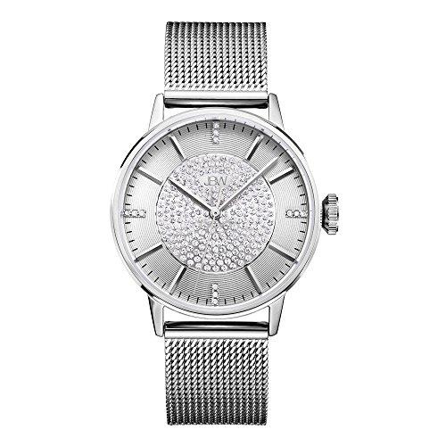 JBW Women's Belle J6339C Silver Mesh Band Diamond Watch