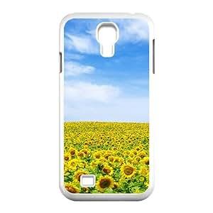 3D Okaycosama Funny Samsung Galaxy S4 Case Flower 363 Cheap for Girls, Case for Samsung Galaxy S4 Mini for Girls, [White]