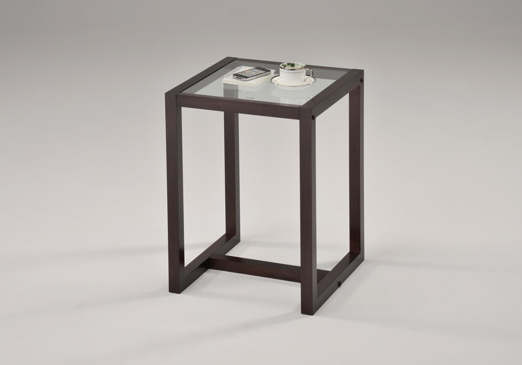 End Table with Glass Top $9.95...