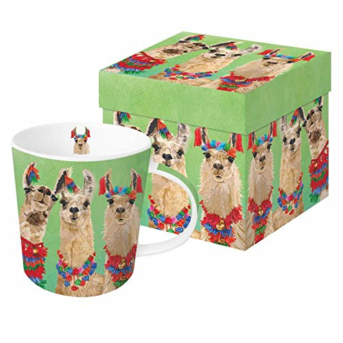 - Paperproducts Design PPD 603371 Llama Amigos Mug in Gift Box, 13.5oz, Multicolor
