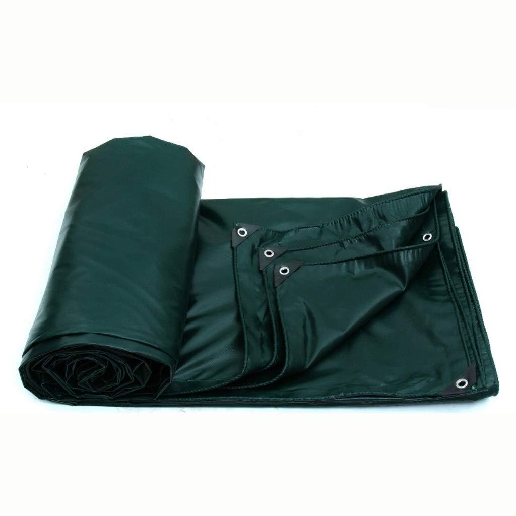 Dark vert 280480cm JIAQI Parasol Multifonctionnel FJZ bÂche extérieure Pluie écran Solaire bÂche bÂche Toile bÂche extérieure écran Solaire auvent Visière (Couleur   vert, Taille   185  185cm)