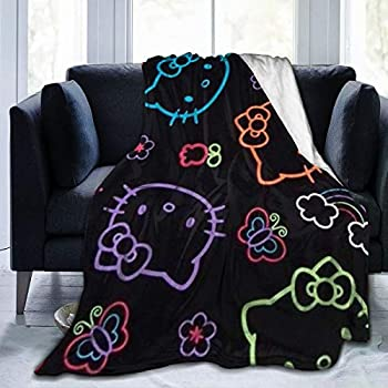 Criss Colorful Hello Kitty Throw Blanket Ultra Soft Thick Microplush Bed Blanket-All Season Premium Fluffy Microfiber Fleece Throw for Sofa Couch Throw60 x50