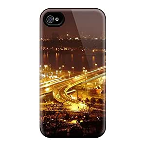 CaroleSignorile Design High Quality Night Bridge Highway Lights Covers Cases With Excellent Style For Iphone 6
